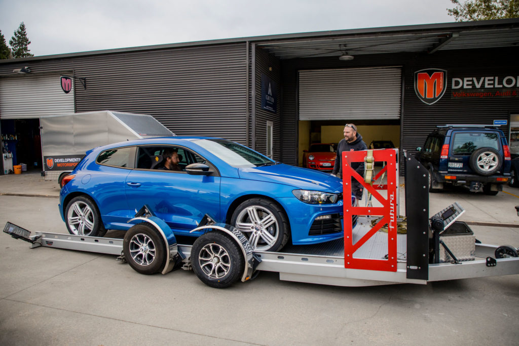 Picking up my Scirocco R track car from M-Development