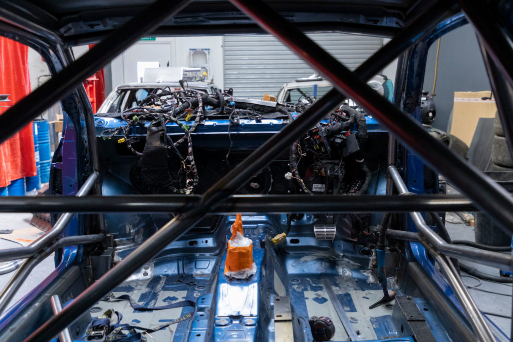 Fitting a roll cage in in a Volkswagen Scirocco R New Zealand